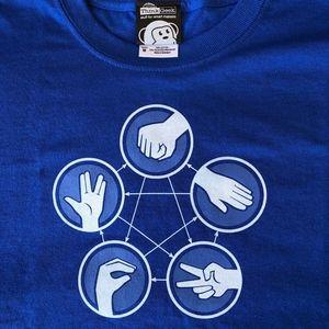 NWOT - Rock, Paper, Scissors, Lizard, Spock Tee